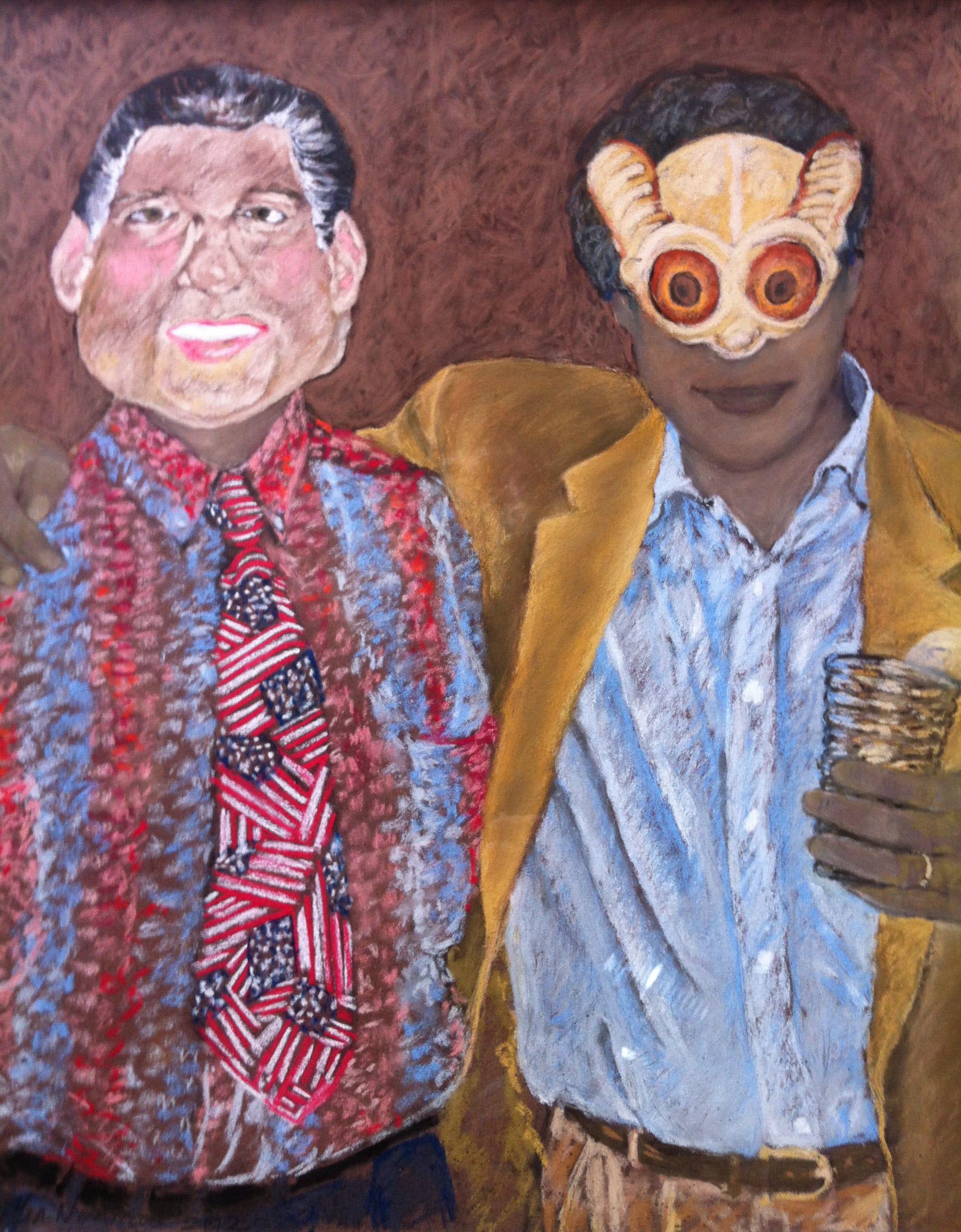 Halloween Masks, 2012, 65x50 cm