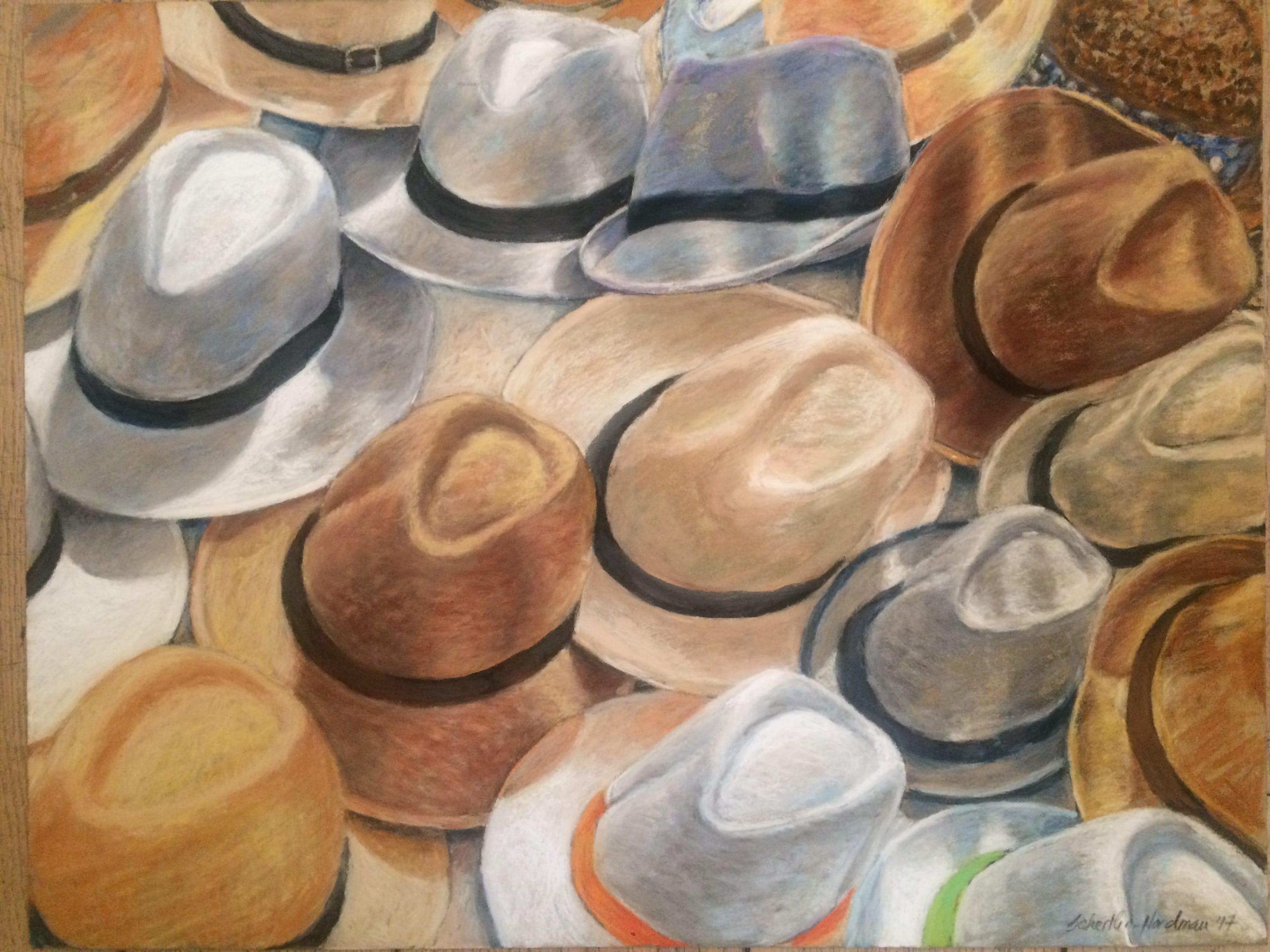 Hats 4, 2017, 50x65 cm