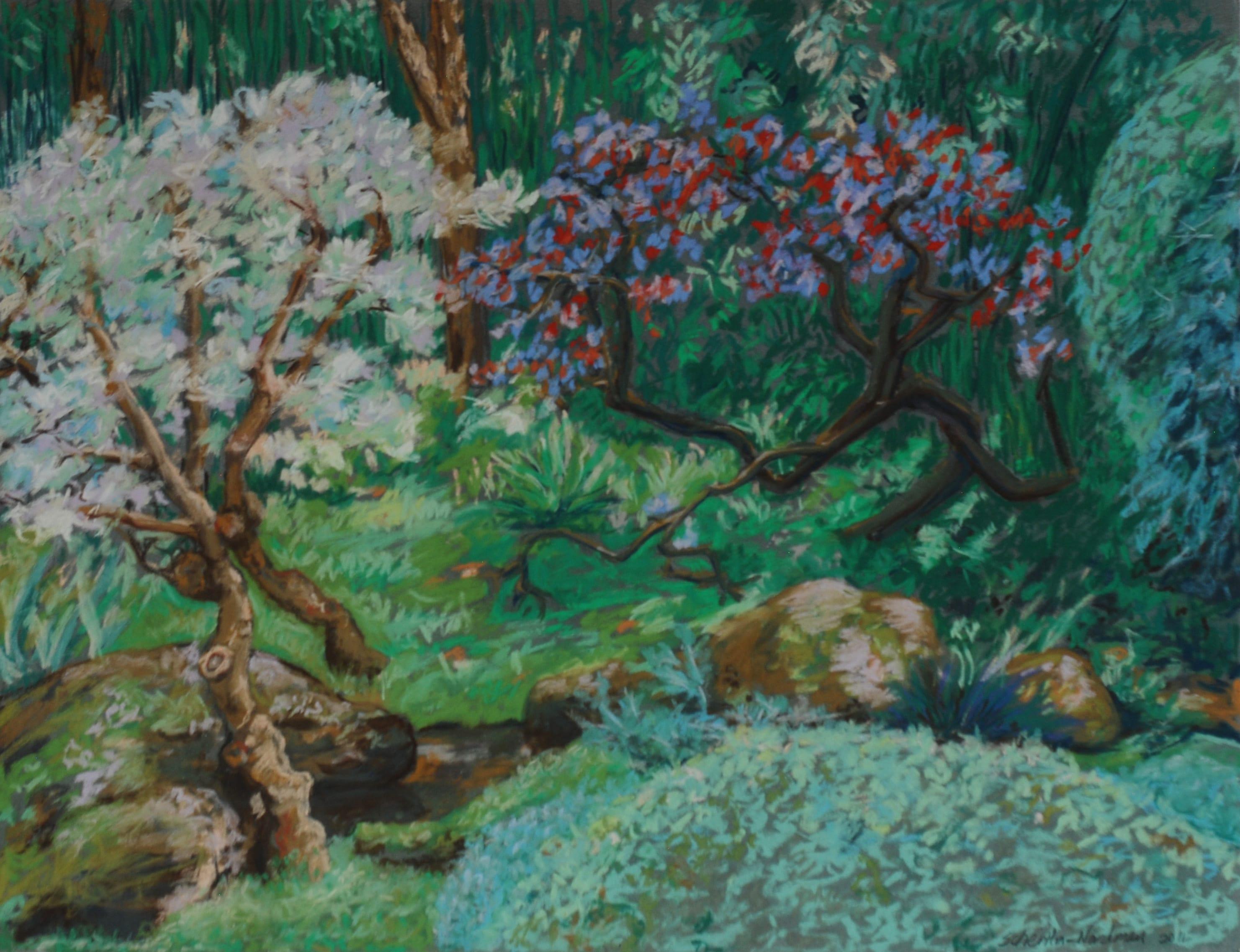 Le Jardin d'Albert Kahn, 2011, 50x65cm