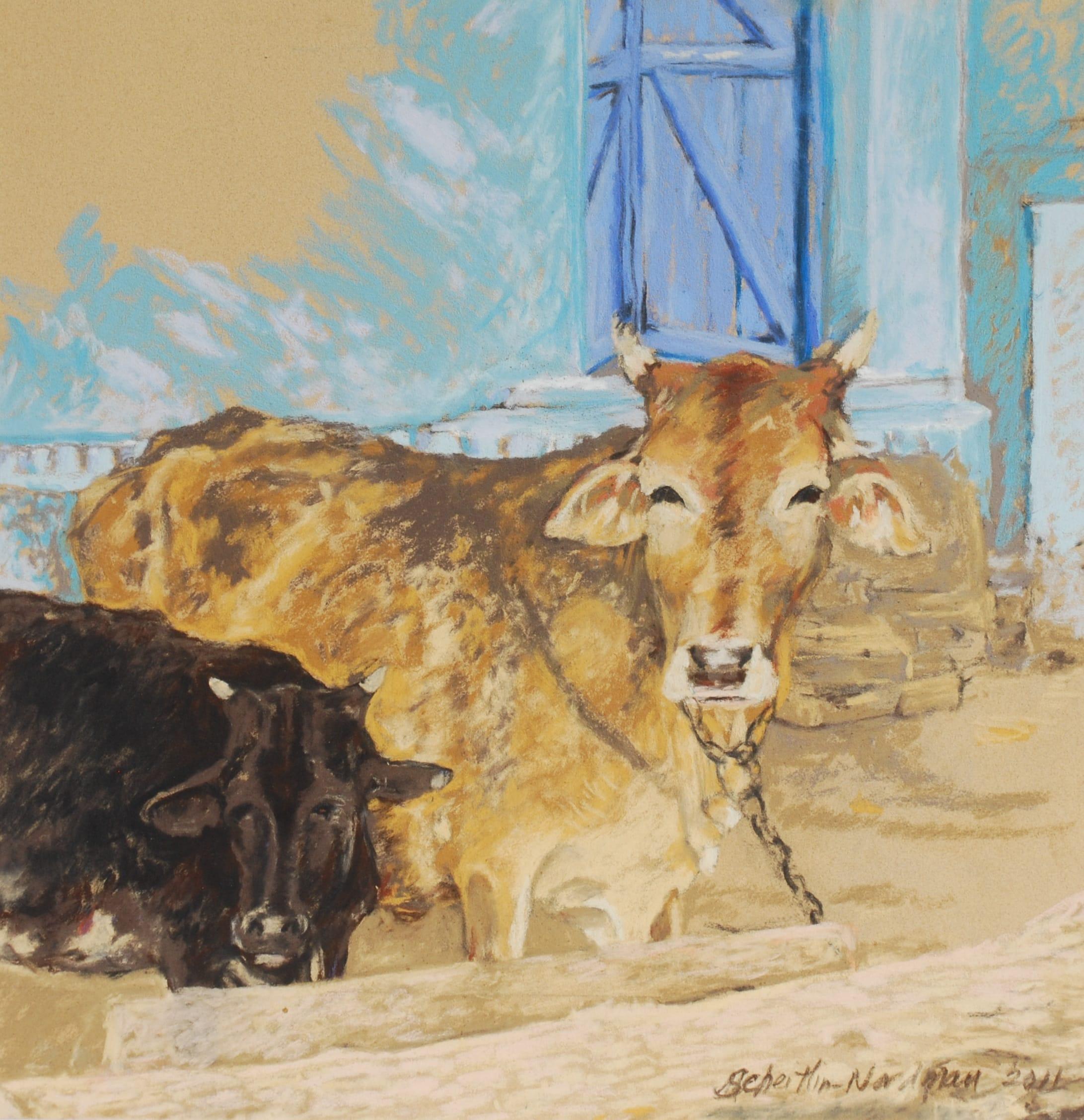 Sacrées Vaches, 2011, 40x40 cm