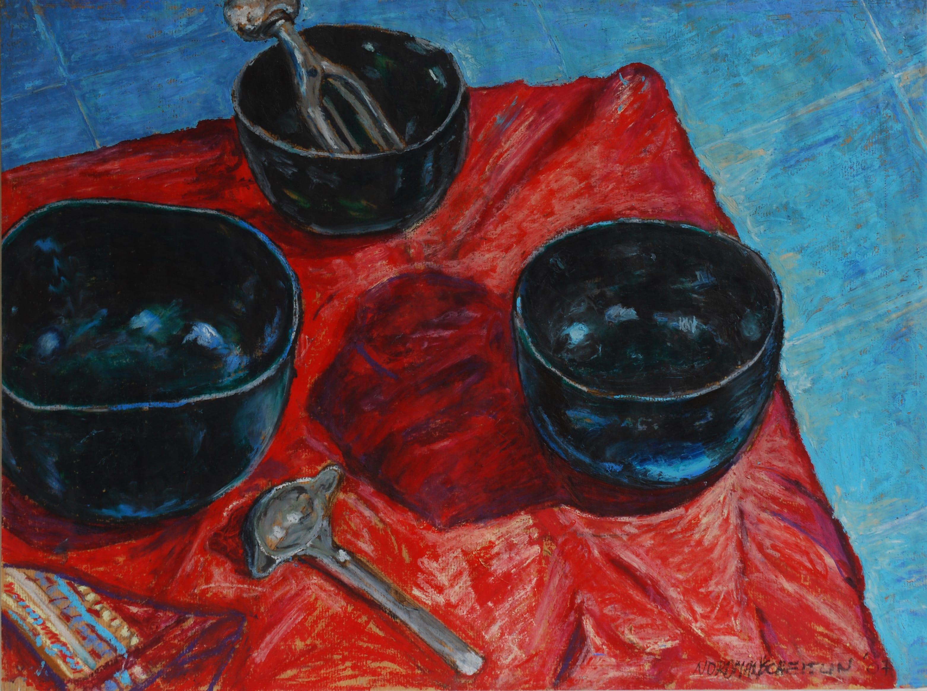 Three Bowls, 2007, 60x80 cm