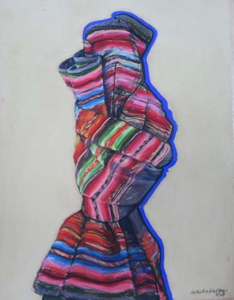 Écharpe, 2017, 50x65