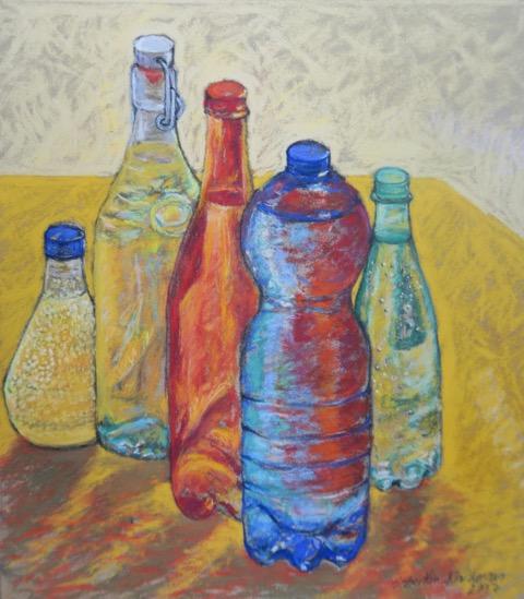 Bottles, 2017, 35x40